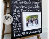 Unique 50th Anniversary Gifts For Parents, Golden Anniversary, Time Can Do So Much, Anniversary Frame, 16x16 THE SUGARED PLUMS
