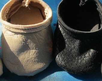 "Doll Jazz Shoes In Black Or Tan Fits Most 18"" Dolls"