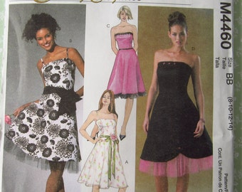 UNCUT McCalls M4460 Misses Dress Pattern Evening Elegance, Party, Special Occasion, Prom, Formal,  Sizes 8-10-12-14
