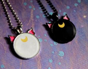Artemis and Luna pendant OR custom cat neckalce for pet owners