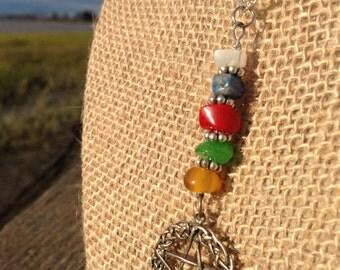 Elemental Pentacle Necklace (Pagan Neopagan Wicca)