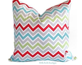 SALE Decorative Pillow Cover (ONE) 16 x16 -Zig Zag Chevron Harmony Twill