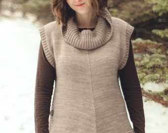 PDF KNITTING PATTERN for worsted weight poncho pullover