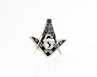 Masonic Pin Sterling Silver Lapel Pin