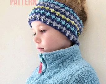 Crochet Pattern, The Amelia Headband, Crochet Headband Pattern, Crochet Earwarmer Pattern, Crochet Patterns, Craft Supply, Patterns, Kids