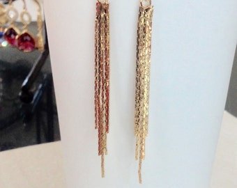 Long gold earrings, long gold dangle earrings, long earrings gold, long stud earrings, stud earrings gold, earrings gold, dangle earrings