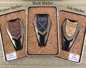 Personalized Groomsmen Gifts Wood Golf Ball Marker/ Divot Tool Remover - Gifts for Groomsmen, Best Man Gift, Engraved Golf Marker, Mens Gift