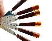 Vintage Bakelite Glitter Flatware, boxed set of 6 knives