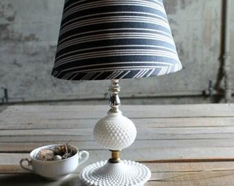 Vintage Milk Glass Lamp Base - No. 2