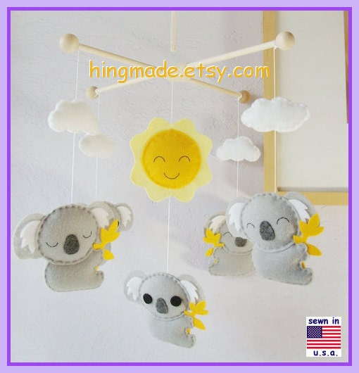 On Sale Baby Crib Mobile Koala Mobile Nursery Mobile By