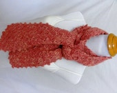 sparkly light pink scarf made from baby llama yarn