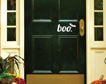 Boo Door Decal - Door Decals - Door Stickers - Door Decal - Door Signage - front door decal - Entryway Decor - Fall Decor - Halloween Decor