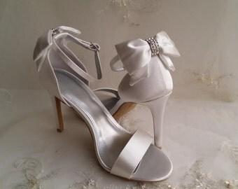 Wedding Shoes Bridal Shoes Pick your Color - White bridal shoes - Ivory Wedding Shoes - Dyeable Wedding Shoes