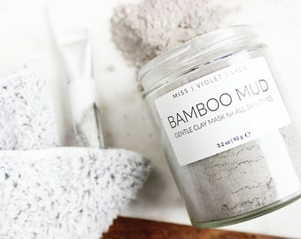 Bamboo Mud Mask | Clay Mask for All Skin Types - Dry Skin, Oily Skin, Combination Skin | 100% natural & vegan