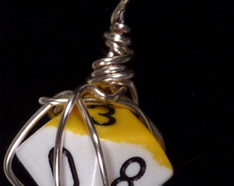 Adventurer D10 Wire Wrapped Dice Pendant - 20% off with code BLF2016