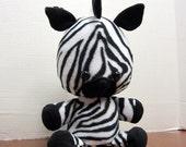 Stuffed Plush Zebra Safari Jungle Nursery Room Toy