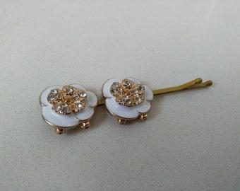 lovely pair Studded hair pin, bobby pin, fancy bobby pins, tichel pins, hair pins wedding, tichel pin,by oshratdesignz