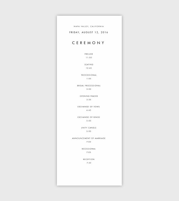 event program program template wedding programs instant
