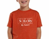 Periodic Table Toddler Shirt - NERDY BY NATURE Kids Tee by Periodically Inspired (Vintage Orange)