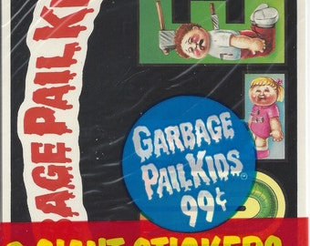 Garbage Pail Kids 3 Vintage Giant Stickers, C1986