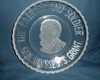 "Antique EAPG General Ulysses S. Grant pattern Glass 9.5"" Bowl"
