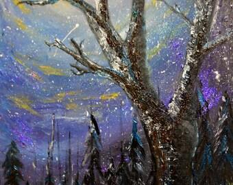 Print: Midnight in Purple