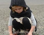 Crochet PATTERN-The Barron Hood (12/18 months-2, 3/4, 5/7, 8/12, teen/sm. adult, adult sizes)