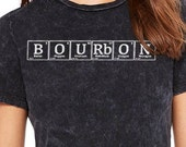 Bourbon - Periodic Table Bourbon Enthusiast Relaxed Women's Crew Neck T-Shirt - Kentucky Derby, Oktoberfest, Birthday Christmas Gift