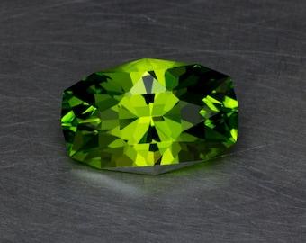 Apple Green Sapphire Loose Lab Created Flame Fusion Modern Long Oval Cushion Gemstone