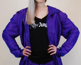 iridescent purple anorak iridescent purple jacket iridescent anorak iridescent jacket iridescent coat purple coat windbreaker purple pink