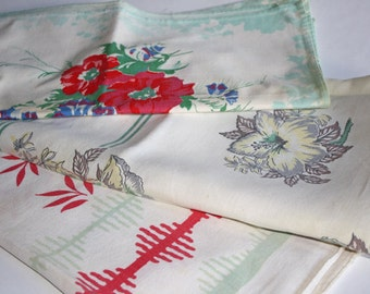 3 Small Vintage Tablecloths
