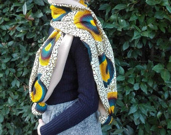 Yellow pom-pom Scarf - yellow winter accessories gift for her