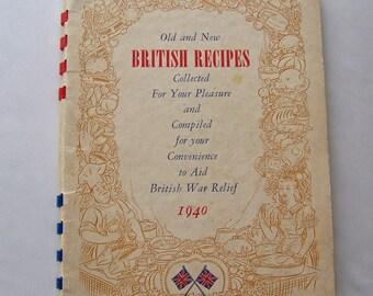 Vintage British Recipe Booklet Published 1940 To Aid British War Relief Efforts