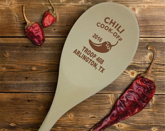 Chili Cook Off Personalized Wooden Spoon Prize, Hostess Gift, First Place Chili Cook-Off SP0201