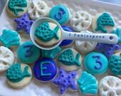 5 Dozen Mermaid Themed cookie nibbles