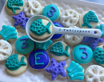 5 Dozen Mermaid Themed cookie nibbles