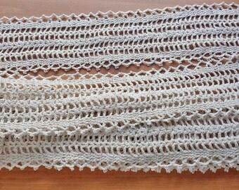 Beige Crochet Lace, Vintage Lace Trim, 188 inches length, 3.5 inch width