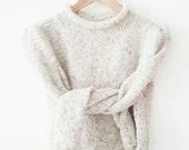 30% 0FF Coupon Code WSALE30 Luxury tweed wool angora hand knit sweater natural creamy ireland wool warm soft fashion modern romantic gifts