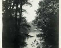 "Vintage Photo ""Lewis and Clark Were Here"" Snapshot Antique Photo Black & White Photograph Found Paper Ephemera Vernacular - 184"