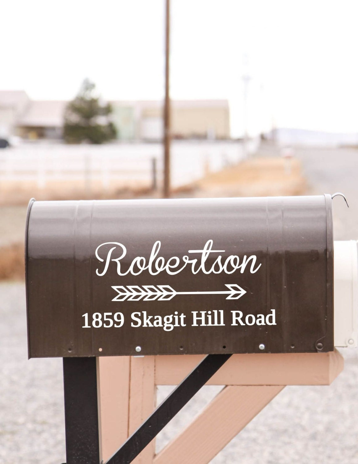 Custom Vinyl Mailbox Decal Custom Mailbox Decal Address - Custom vinyl decals for wood   removal options