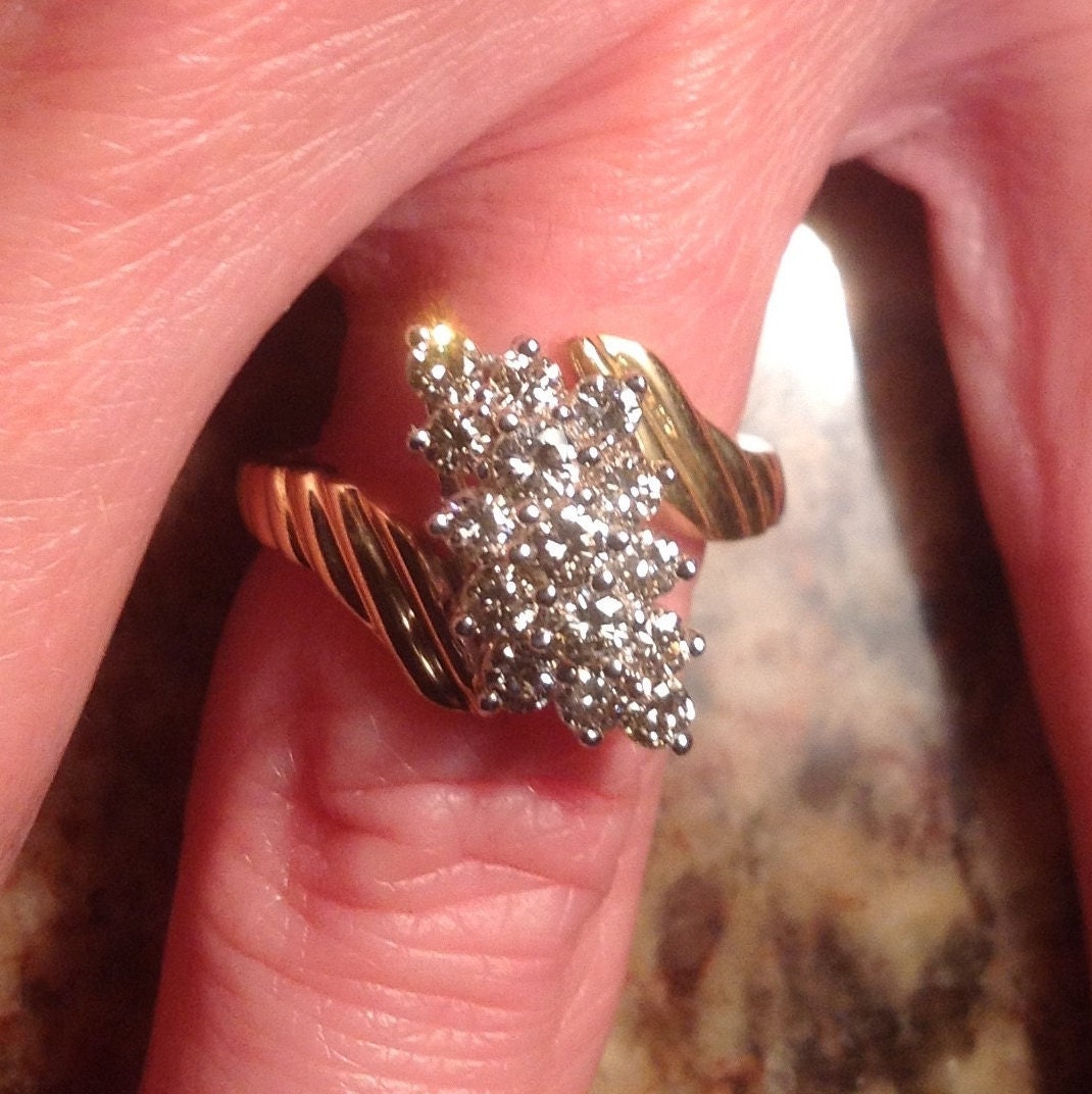 Sale 14k diamond waterfall ring tcw vjse by art4u2buy for Waterfall design ring