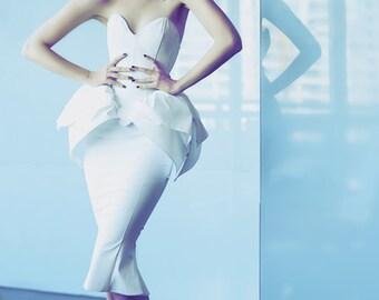 Artifice Hobble skirt XXS Matte white