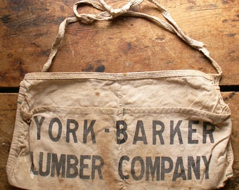 Vintage Lumber Company Work Apron - York Barker Lumber Company