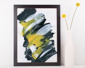 Black and White Abstract Print