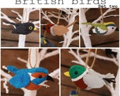 British birds set two PDF pattern
