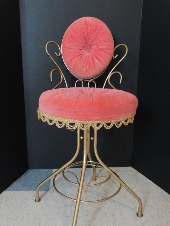 pink vanity stool swivel stool pink stool womens make up stool
