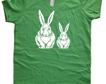 Bunny Kids TShirt - Rabbit Basket Shirt - Boy or Girl - Spring Bunnies - Tee Shirt Top - Kids Tshirt 2T, 4T, 6, 8, 10, 12