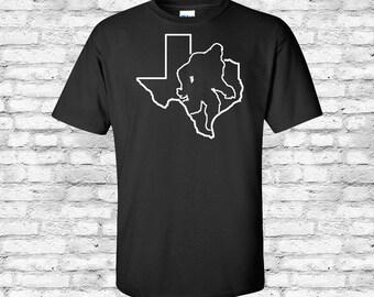 Texas State Sasquatch, Bigfoot, Yeti, Basic Heavy Tee, Shirt