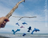 Crochet Mobile Pattern PDF - Dolphin Amigurumi Toy, Rattle or Baby Mobile  - Instant Download