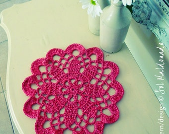 PDF Crochet pattern doily or Tarn Rug -easy beginner mandala crochet pattern - INSTANT DOWNLOAD